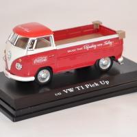 Volkswagen t1 pick up 1962 rouge et blanc 440546 coca cola 1 43 autominiature01 com 1