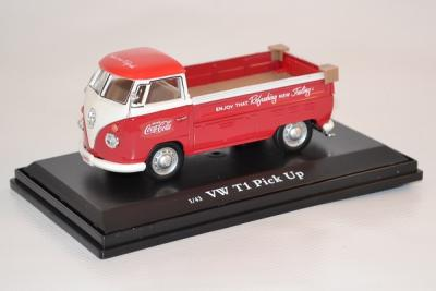 VOLKSWAGEN T1 Pick Up COCA COLA de 1962 rouge-blanc 1-43de MOTOR CITY