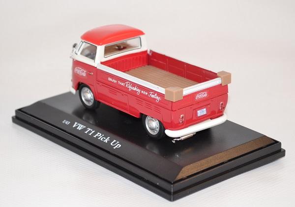 Volkswagen t1 pick up 1962 rouge et blanc 440546 coca cola 1 43 autominiature01 com 2
