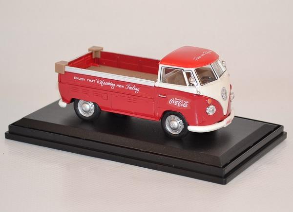 Volkswagen t1 pick up 1962 rouge et blanc 440546 coca cola 1 43 autominiature01 com 3