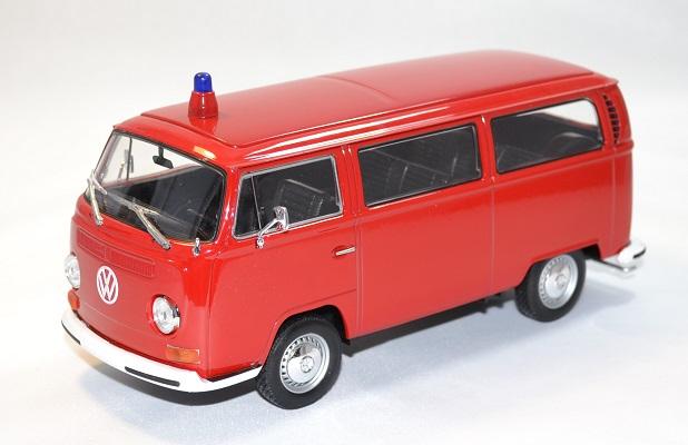 Volkswagen t2 1972 pompier welly 1 24 autominiature01 1