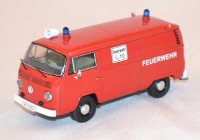 Volkswagen T2b german firefighters van red 1/43 Premium X