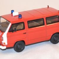 Volkswagen t3b fourgon pompier miniature premium 1 43 autominiature01 1