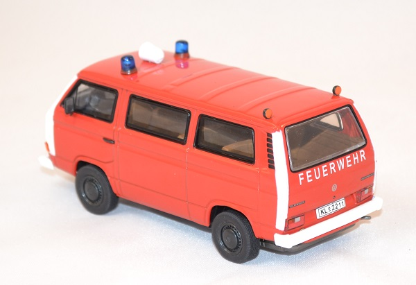Volkswagen t3b fourgon pompier miniature premium 1 43 autominiature01 3