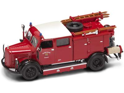 Yatming mercedes benz tlf 15 pompiers schorndorf 1950 autominiature01 com 43013 1